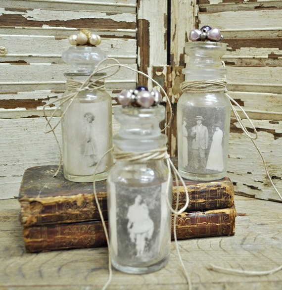 Spice Jar Photo Holders
