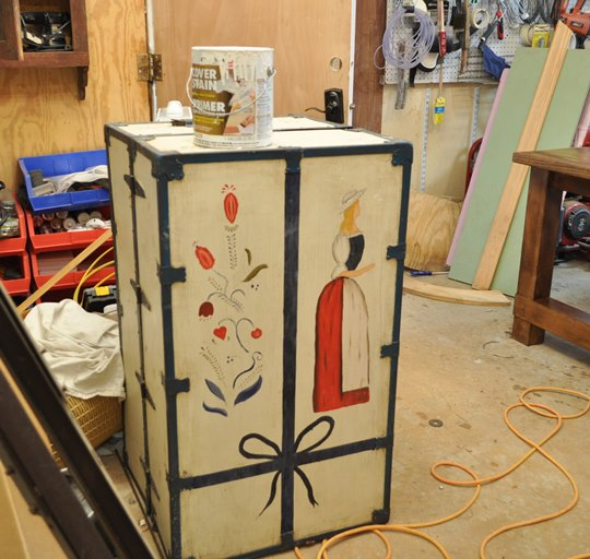 Trunk to be painted
