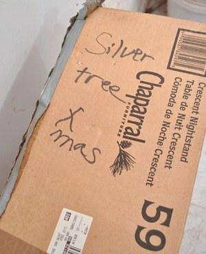 Silver Aluminum Christmas Tree Box