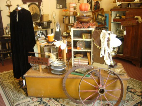 Fall Antique Shop Display