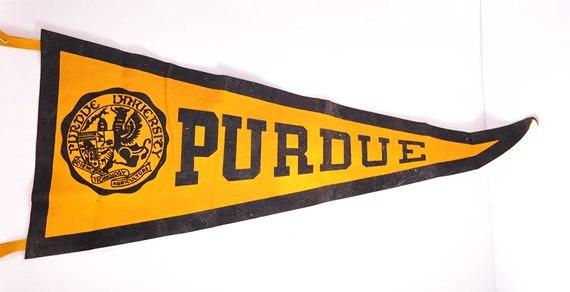 1940's Purdue Pennant