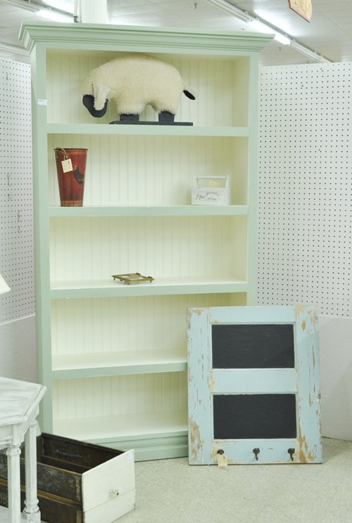 Bookcase and half door coat rack : Just Vintage Home