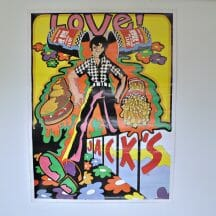 Jack's Hamburgers Restaurant Psychedelic 1970s Poster