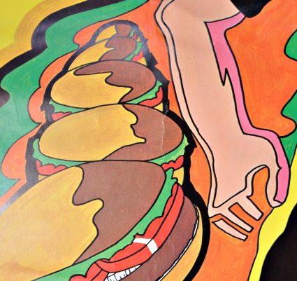 Jack's Hamburgers Restaurant Psychedelic 1970s Poster