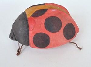 large wooden ladybug