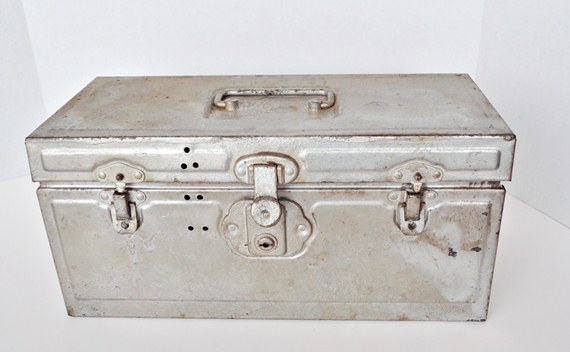Silver colored toolbox