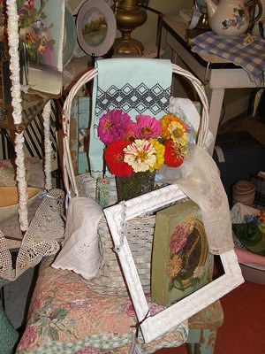 Spring Antique Shop Display