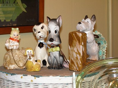Antique Shop Vignette - Dog Figurines