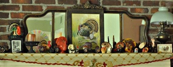 Thanksgiving turkey mantle - A rafter of turkeys