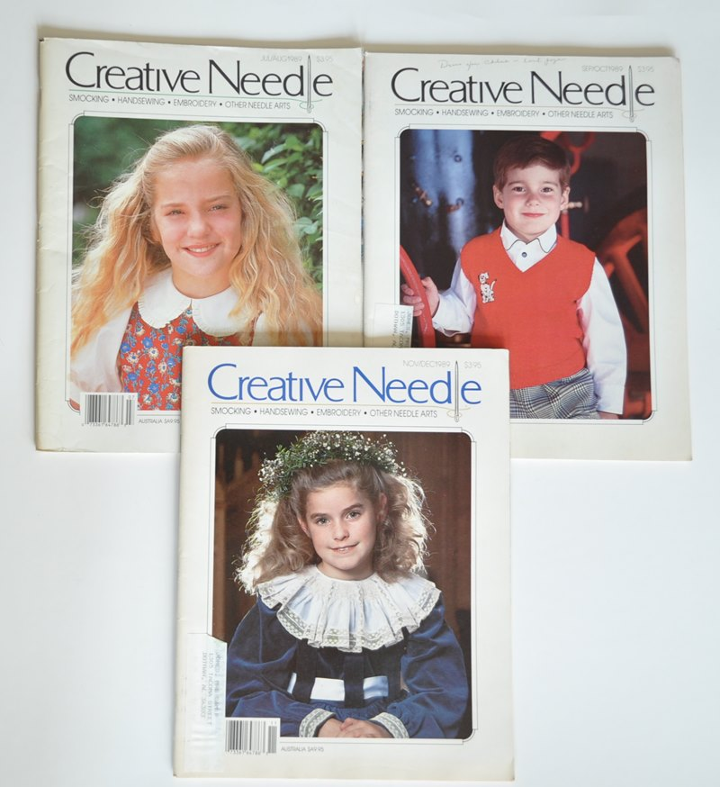 3 Creative Needle Back Issues from 1989