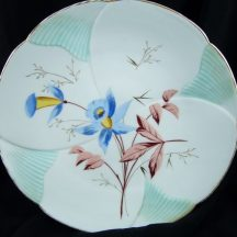 Vintage Plate with Columbine Flowers
