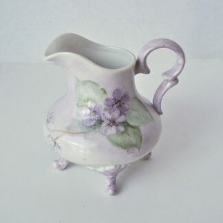 Hand Painted Violets Pattern Creamer