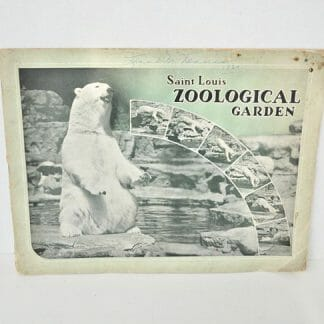 1937 Saint Louis Zoological Souvenir Guide Book