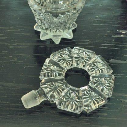 Vintage pressed glass perfume bottle stopper