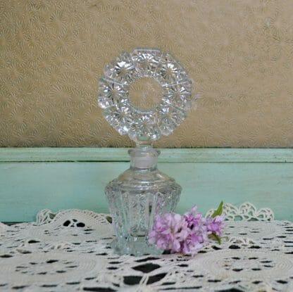 Vintage pressed glass perfume bottle