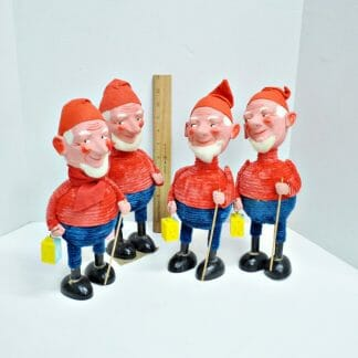 Large antique Christmas candy container gnomes