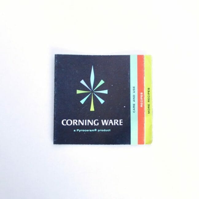 Original Corning Ware Product Booklet