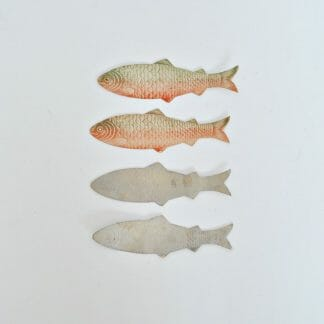 Four Antique Paper Trout - Great for scrapbooking