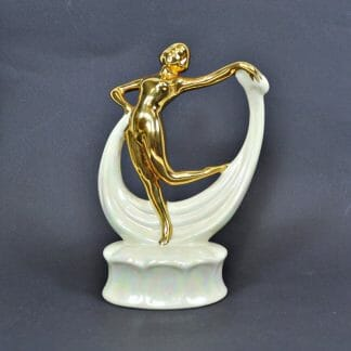Art Deco Gold Nude Scarf Dancer