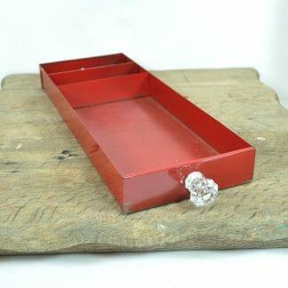 Vintage industrial metal tray