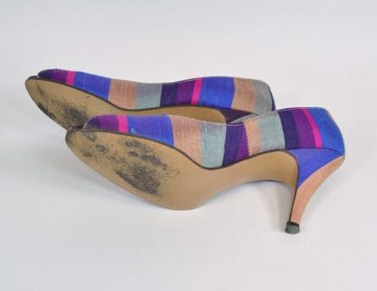 Vintage 1980s peep toe pumps