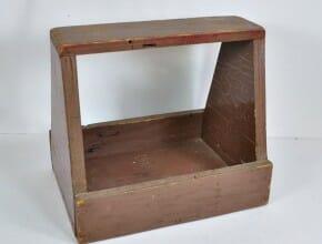 Primitive Wood Shoe Shine Box