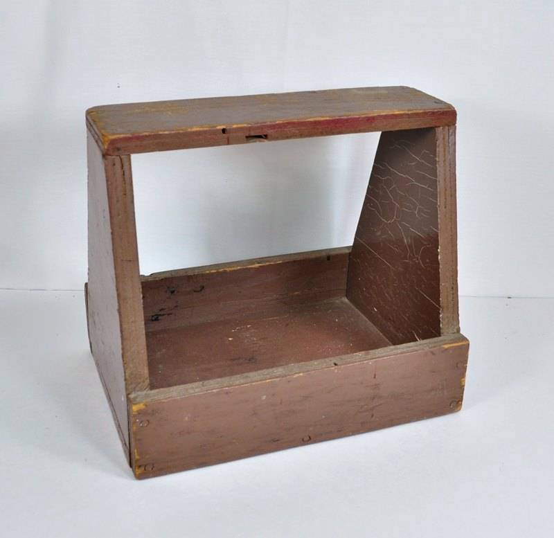 Primitive Wood Shoe Shine Box or Tool Caddy