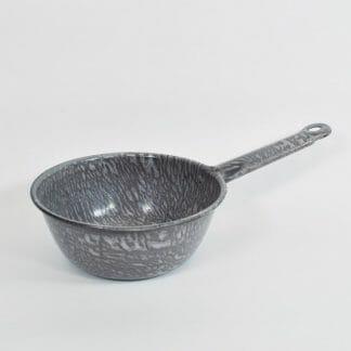 Gray Enamelware Pot