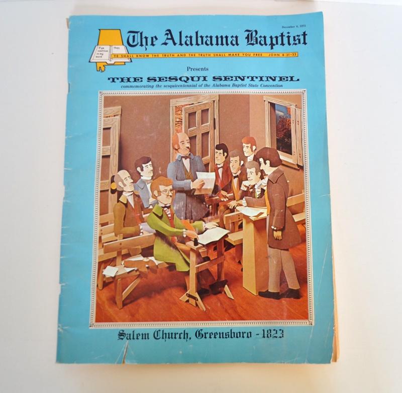 Alabama Baptist Sesqui Sentinel – 1973 Sesquicentennial Issue