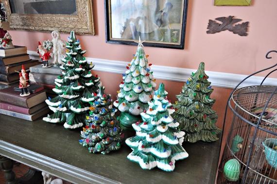Ceramic Christmas Tree Collection Display
