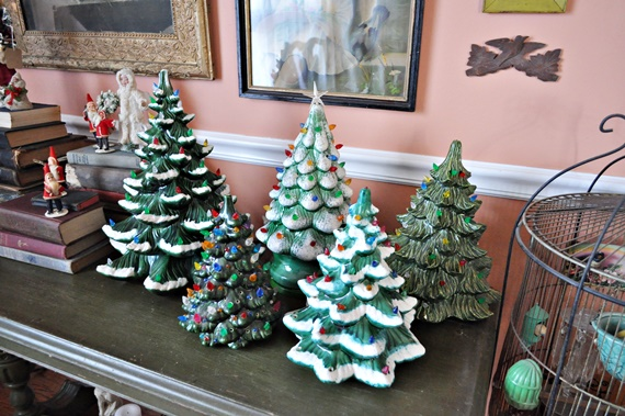 Ceramic Christmas Tree Collection Display