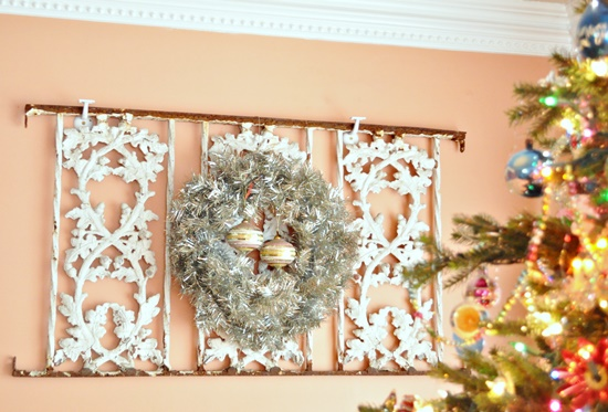 Silver Tinsel Christmas Wreath With An Extra Punch
