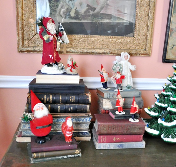 Vintage and hand made Santa collection