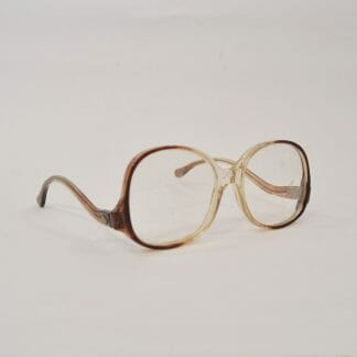 Oversize 1980s Glasses with Imitation Tortoise Shell Look