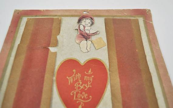 Antique Hand Made Valentine
