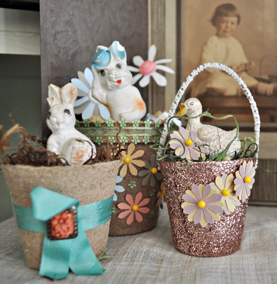 This Year's Vintage Easter Decorations
