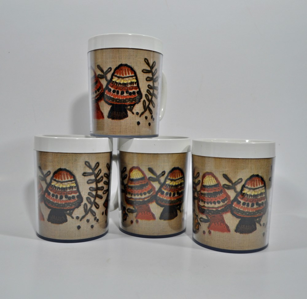 Set of Thermo-Serv Mushroom Mugs