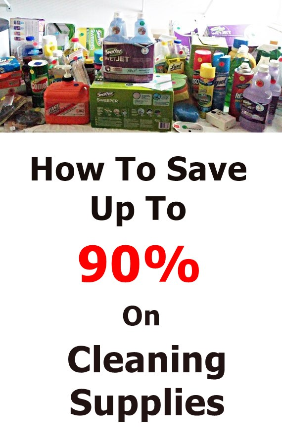 How to save money on cleaning supplies, up to 90%! This is so simple you'll wonder why you never thought of it.