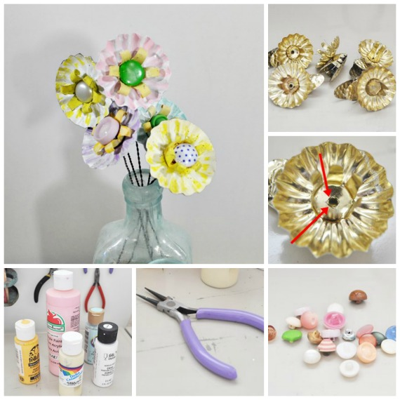 How to make flowers from Christmas tree candle clips