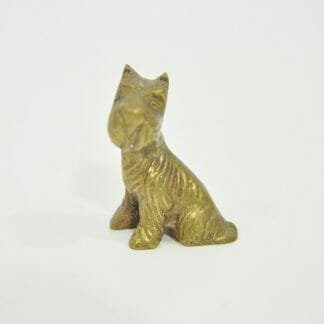 Vintage Dog - Miniature brass Scottie figurine