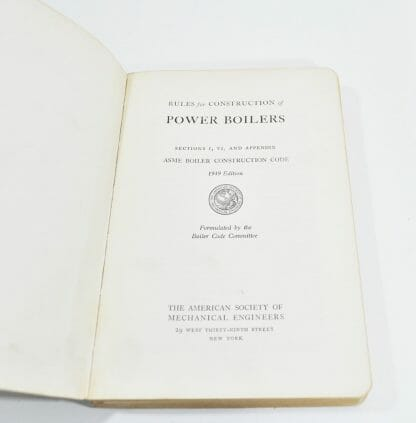 1949 ASME Code Rules for Construction of Power Boilers