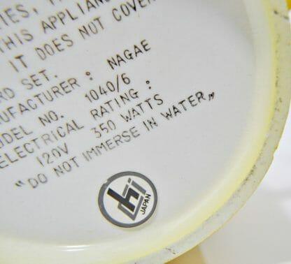Chi Japan ceramic mark on retro kitchen coffee set