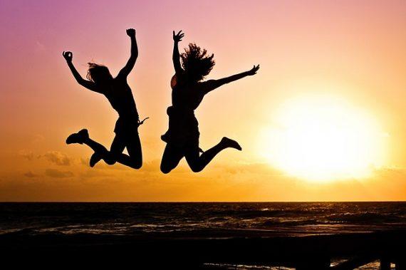 Happy, energetic, morning people