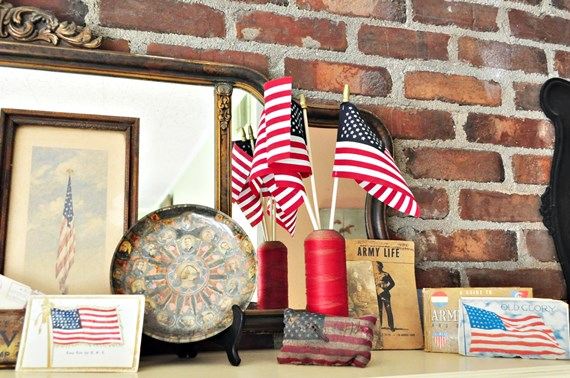 4th of July mantle decoration
