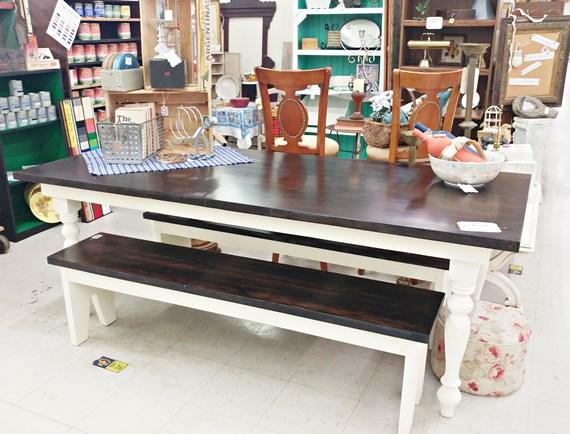 Hand built farm table