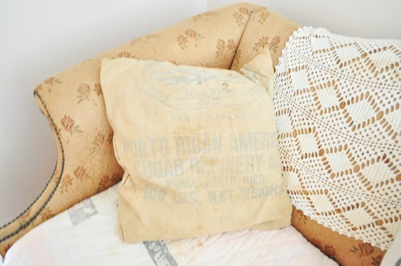 Flour sack pillow