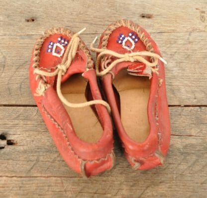 Vintage Moccasins In Child's Size