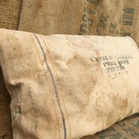 Grain sack pillows