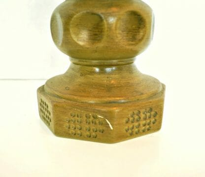 Details of 1960s decor green candlestick