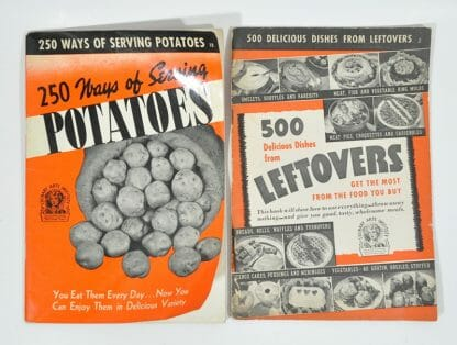 2 Culinary Arts Institute Cookbooks from the early 1940's. Potatoes and Leftovers